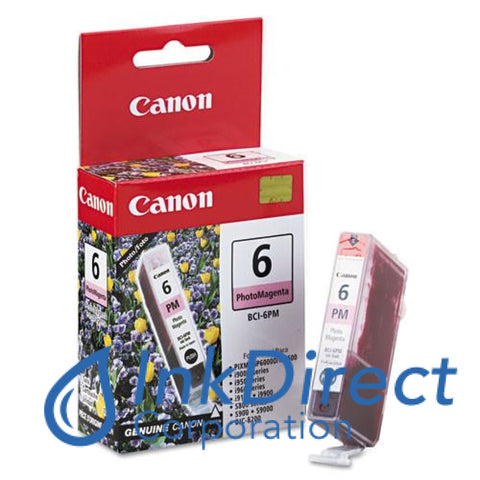 Genuine Canon 4710A003Aa Bci-6Pm Ink Jet Cartridge Photo Magenta