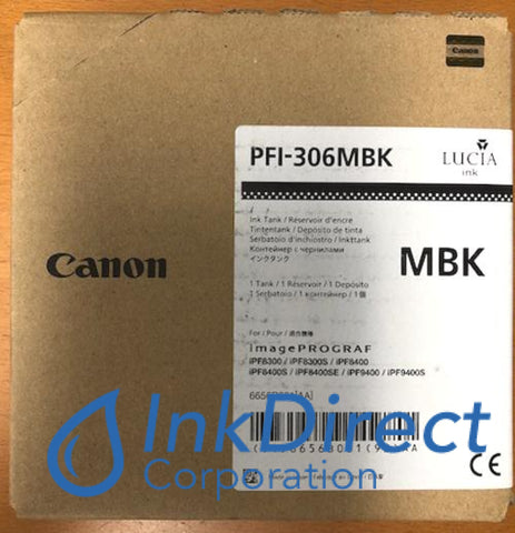 Genuine Canon 6656B001Aa Pfi-306Mbk Ink Tank Matt Black