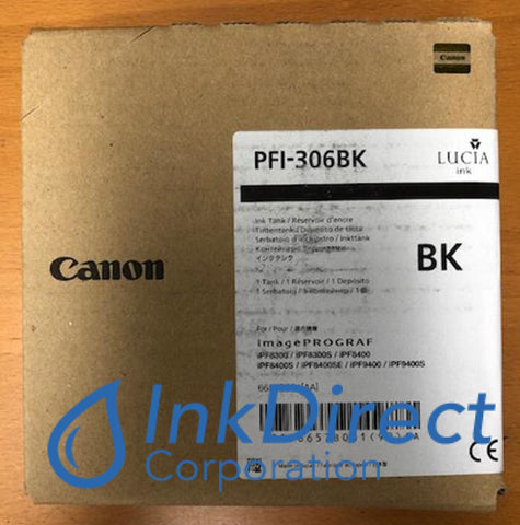 Genuine Canon 6657B001Aa Pfi-306Bk Ink Tank Black