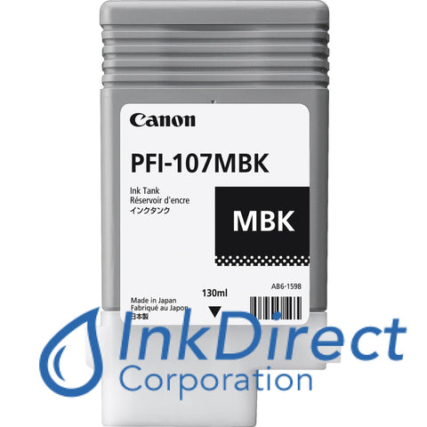 Genuine Canon 6704B001Aa Pfi-107Mbk Ink Tank Matt Black