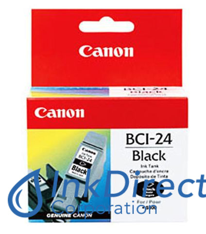 Genuine Canon 6881A003Aa Bci-24Bk Ink Jet Cartridge Black