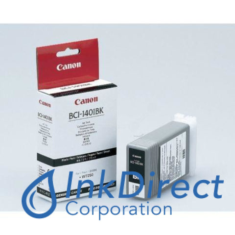 Genuine Canon 7568A001Aa Bci-1401Bk Ink Jet Cartridge Black