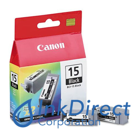 Genuine Canon 8190A003Aa Bci-15 Ink Jet Cartridge Black
