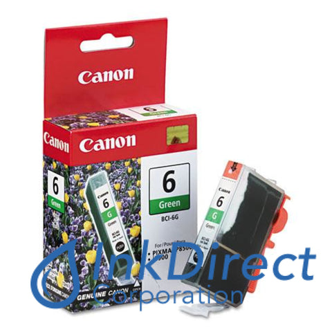 Genuine Canon 9473A003Aa Bci-6G Ink Jet Cartridge Green