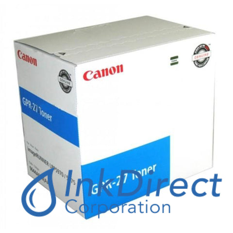 Genuine Canon 9644A008Aa Gpr-27 High Yield Toner Cartridge Cyan
