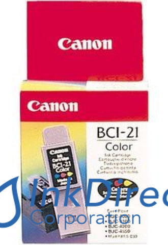 Genuine Canon F470741410 0955A003Aa 0955A003Ab Bci-21C Ink Jet Cartridge Tri-Color
