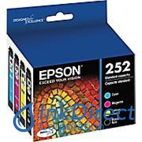 Genuine Epson T252120-Bcs 252 K/c/m/y Ink Jet Cartridge Multi-Pack