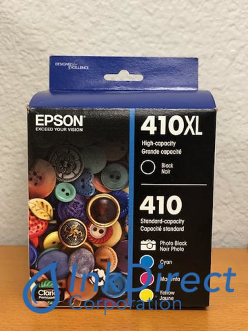 Genuine Epson T410XLBCS T410XL-BCS Epson 410XL Black 410 Cyan Magenta Yellow Photo Black Ink Jet Cartridge Ink Jet Cartridge , Epson   - All-in-One  XP 530,  630,  640,  830,