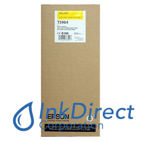 Genuine Epson T596400 Ultrachrome Hdr Ink Jet Cartridge Yellow