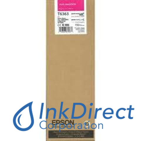 Genuine Epson T636300 T6363 Ultrachrome Hdr Ink Jet Cartridge Vivid Magenta