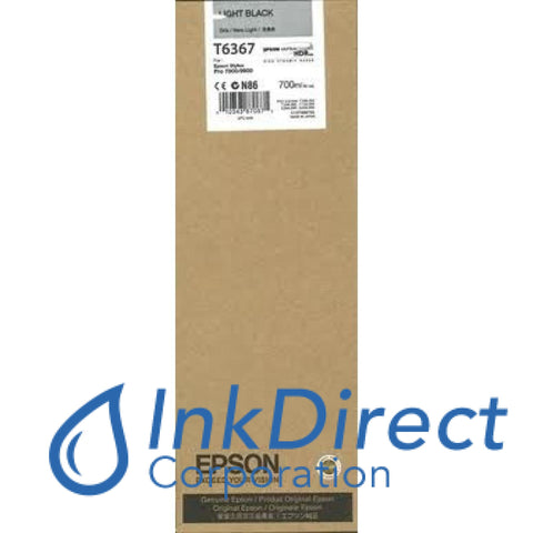 Genuine Epson T636700 T6367 Ultrachrome Hdr Ink Jet Cartridge Light Black
