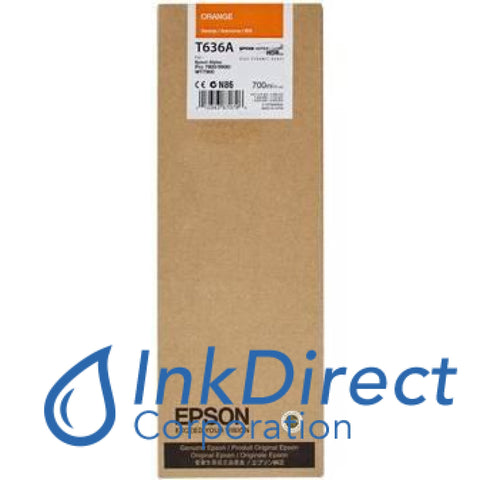 Genuine Epson T636A00 T636A Ultrachrome Hdr Ink Jet Cartridge Orange