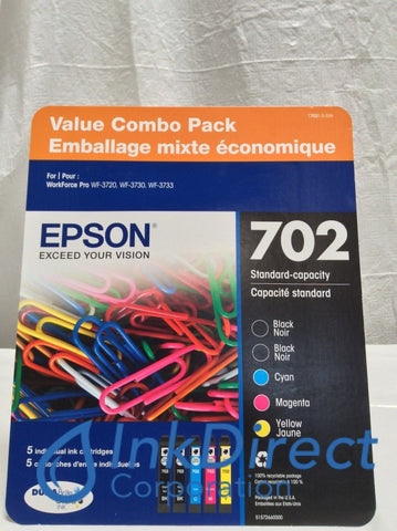 Genuine Epson T70215SVH T7021-5-SVH Epson 702 Ink Jet Cartridge Black Ink Jet Cartridge
