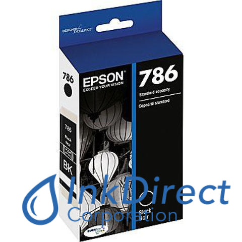 Genuine Epson T786120 T786 Ink Jet Cartridge Black