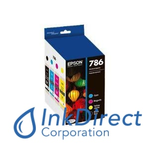 Genuine Epson T786120Bcs T786120-Bcs T786 Ink Jet Cartridge 4-Color Ink Jet Cartridge