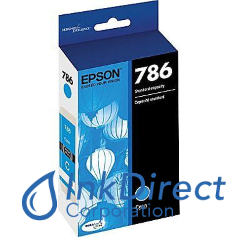 Genuine Epson T786220 T786 Ink Jet Cartridge Cyan