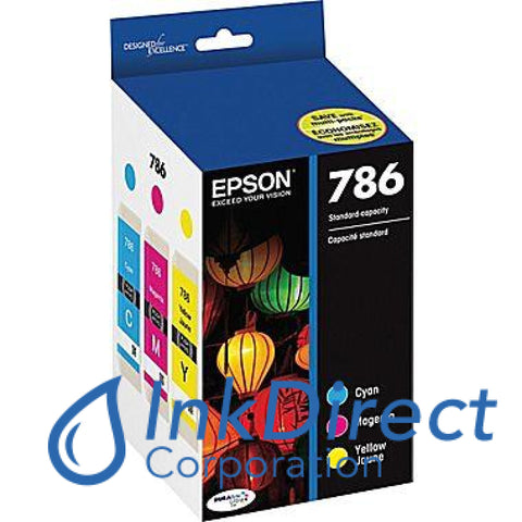 Genuine Epson T786520 T786 Ink Jet Cartridge Tri-Color