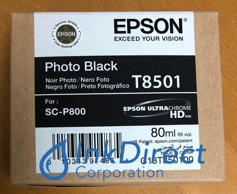Genuine Epson T850100 T8501 Epson T850 Ink Jet Cartridge Photo Black Ink Jet Cartridge