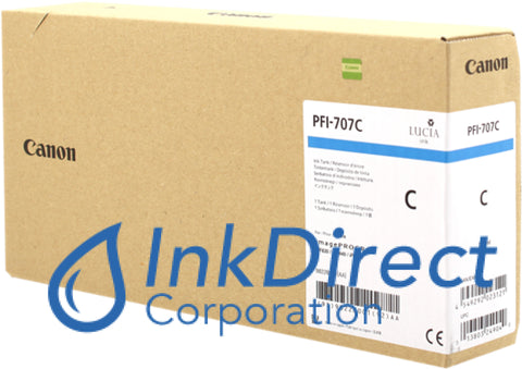 Genuine Hp 9822B001Aa Pfi-707C Ink Tank Cyan