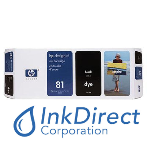Genuine Hp C4930A 81 Ink Jet Cartridge Black