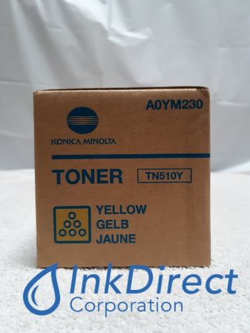 Genuine Konica Minolta 020W A0YM230 TN-510Y TN510Y - Standard Yield Toner Cartridge Yellow Toner Cartridge