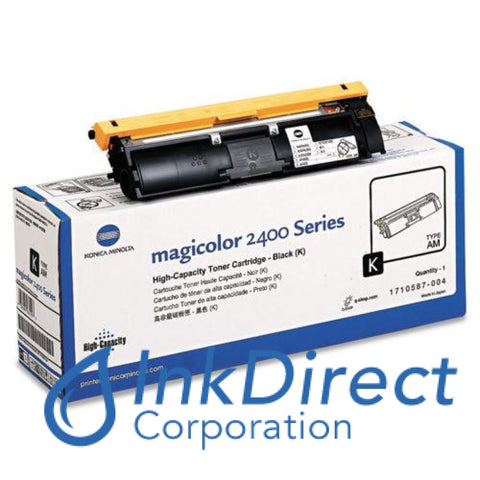 Genuine Konica Minolta 1710587004 1710587-004 Magicolor 2400 High Yield Toner Cartridge Black , Konica-Minolta - Multi Function MagiColor 2480MF, 2490MF, 2590MF