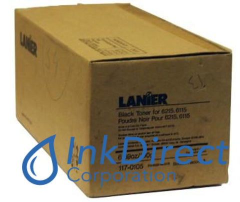 Genuine Lanier 1170105 117-0105 4 Toner + Bolttles Black , Lanier - Copier 6115, 6215