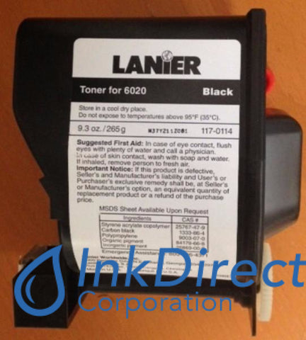 Genuine Lanier 1170114 117-0114 Type 540 Toner Cartridge Black , Lanier - Copier 6020, 6126