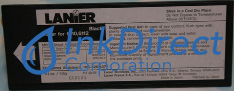 Genuine Lanier 1170135 117-0135 Toner Cartridge Black , Lanier - Copier 6110, 6112