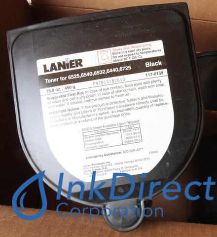 Genuine Lanier 1170159 - L 117-0159 - Toner Cartridge Black , Lanier - Copier 6526, - Copier-Analog 6440, 6525, 6532, 6540, 6725