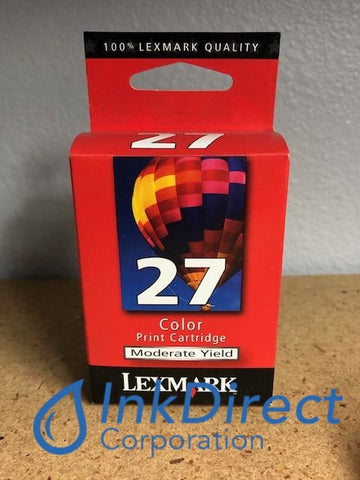Genuine Lexmark 10N0227 Lex 27 Moderate Yield Ink Jet Cartridge Color Z23 Z25 Z33 Z35 Z510 Z513 Z515 Z601 Z602 Ink Jet Cartridge, InkJet Printer Z23 , Z25 , Z33 , Z35 , Z510, Z513, Z515, Z601, Z602, Z603, Z605, Z612, Z613, Z614, Z615, Z617, Z645, Z647LA LV, - Multi Function X1100, X1110, X1130, X1140, X1150, X1155, X1160, X1170, X1190, X1195, X1270, X1290, X2230, X2240, X2250, X74 , X75 , X75, - Printer Z13,