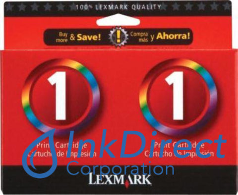 Genuine Lexmark 18C0948 Lex 1 Twin Pack Ink Jet Cartridge Black