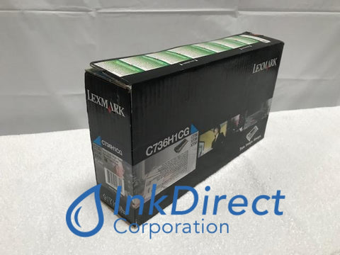 Genuine Lexmark C736H1CG Return Program Toner Cartridge Cyan C736 C736DN C736DTN C736NX736 X736DE X738 X738DE X738DTE Toner Cartridge