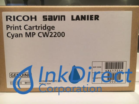 Genuine Ricoh Savin Lanier 841721 Mp Cw2200Sp Print Cartridge Cyan