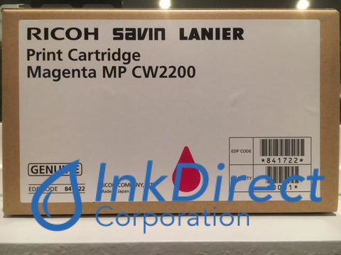Genuine Ricoh Savin Lanier 841722 Mp Cw2200Sp Print Cartridge Magenta