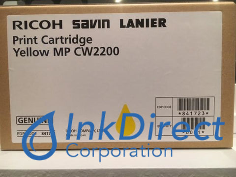 Genuine Ricoh Savin Lanier 841723 Mp Cw2200Sp Print Cartridge Yellow