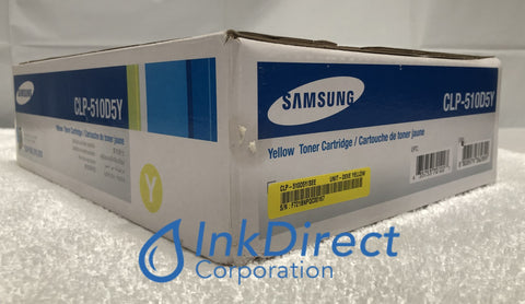 Genuine Samsung CLP510D5Y CLP-510D5Y CLP-510 High Yield Toner Cartridge Yellow , CLP 510 ,  510N