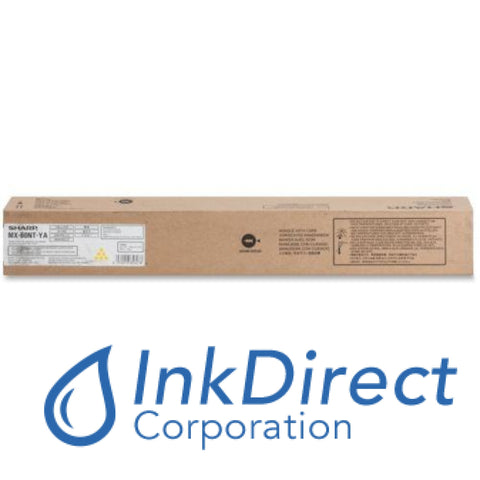 Genuine Sharp Mx60Ntya Mx-60Ntya Toner Cartridge Yellow , MX 3070N , 3570N , 4070N