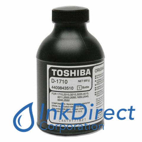 Genuine Toshiba D1710 D-1710 Developer / Starter Black BD 1610 1650 1710 2050 2310 2500 2510 2532 2540 2550 3210 3220 4010