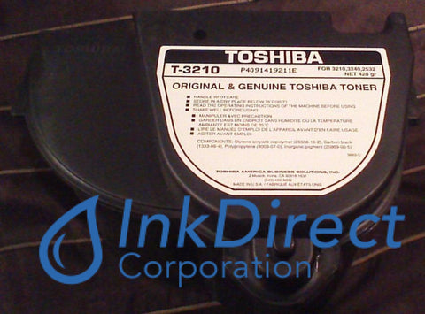 Genuine Toshiba T3210 - L T-3210 - L Toner Cartridge Black  BD 2532 3210