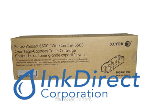 Genuine Xerox 106R1594 106R01594 Phaser 6500 High Yield Toner Cartridge Cyan