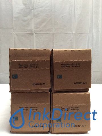 Genuine Xerox 6R1471 6R01471 006R01471 Toner Cartridge Cyan ( Lot of 4 ) Color Press 800 1000 Toner Cartridge