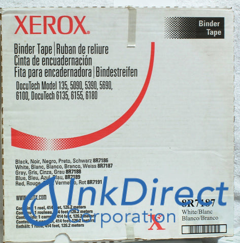 Genuine Xerox 8R7187 8R07187 008R07187 Binder Tape White