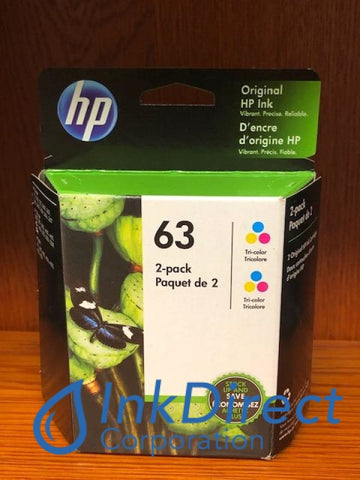 HP 1VV67AN HP 63 ( 2 x F6U61AN ) Ink Jet Cartridge Tri-Color DeskJet 1112 2130 2132 3630 3632 ENVY 4512 4520 OfficeJet 3830 4650 Ink Jet , HP - All-in-One DeskJet 1112, 2130, 2132, 3630, 3632, ENVY 4512, 4520, OfficeJet 3830, 4650