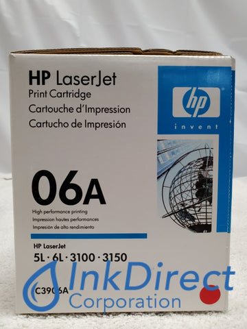 HP C3906A HP 06A Toner Cartridge Black ( Blue Box ) LaserJet 3100, 3150, 5L, 5L Xtra, 5L-FS, 6L, 6LSE, 6LXI