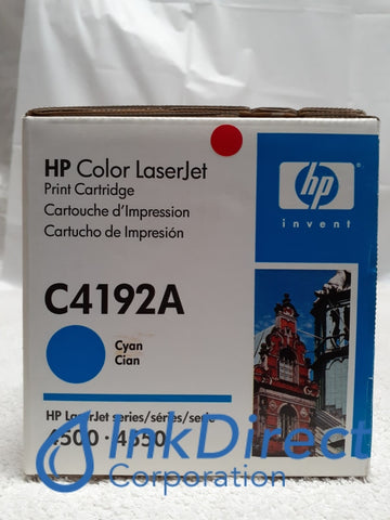 HP C4192A 4500 Toner Cartridge Cyan LaserJet 4500 4500DN 4500N 4550 Toner Cartridge