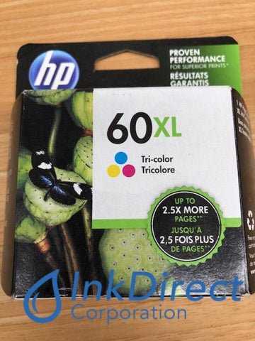 HP CC644WN HP 60XL Ink Jet Cartridge Tri-Color Ink Jet Cartridge , HP - DeskJet D2530, D2560, F4280, - All-in-One PhotoSmart C4680, - InkJet Printer DeskJet D2500, F4200, F4230, F4235, F4240, F4250, F4272, F4273, F4274, F4275, F4288,