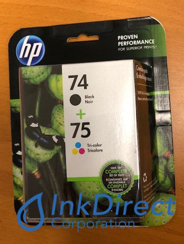 HP CC659FN SD419AN HP 74 75 Combo Pack ( CB335WN & CB337WN ) Ink Jet Cartridge Black & Color Ink Jet Cartridge , HP - All-in-One PhotoSmart C4240, C4250, C4280, C4380, C4385, D5345, D5360, - InkJet Printer DeskJet D4260, D4280, D4360, OfficeJet J5700, J5730, J5740, J5750, J5780, - Photo Printer PhotoSmart C5280