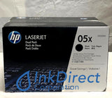 HP CE505XD HP 05X ( 2 * CE505X ) Print Cartridge Black P2055dn P2055x Print Cartridge , HP - Laser Printer P 2055dn, 2055x,