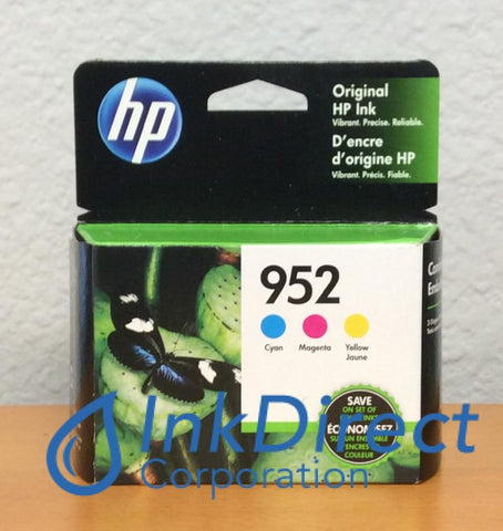 HP N9K27AN140 952 CMY Ink Jet Cartridge Color ( 1 each L0S49AN L0S52AN L0S55AN ) Ink Jet Cartridge , HP - All-in-One OfficeJet Pro 8710, 8715, 8720, 8725, 8730, 8740